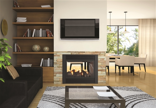 Regency Panorama P121 Two Sided Gas Fireplace Direct Vent