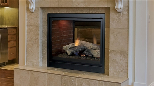 Majestic Pearl Pearl36st 36 See Through Direct Vent Gas Fireplace