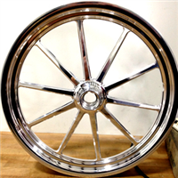 "Sander Engineering 17"" 10 Spoke Dragster Front Wheel"