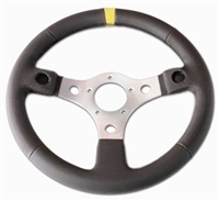"Grant 13"" Steering Wheel with yellow stripe"