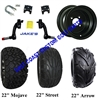 "10"" Black Steel Wheel, Tire and Jakes 6"" Lift Kit Combo"