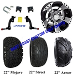 "10"" RX190 Aluminum Wheel, Tire and Jakes 6"" Lift Kit Combo"