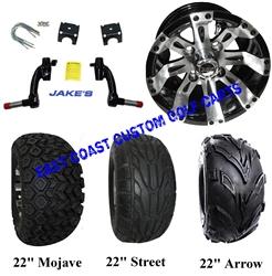 "10"" Vegas Aluminum Wheel, Tire and Jakes 6"" Lift Kit Combo"