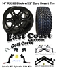 "14"" RHOX RX262 Black Wheel, Tire and Jakes 6"" Lift Kit Combo"