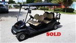 Black 6 Passenger Club Car Precedent Golf Cart