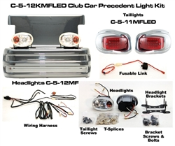 Club Precedent Mirror Finish Head & LED Tail Light Kit #C-5-12KMFLED