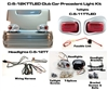 Club Precedent Turned Titanium Head & LED Tail Light Kit #C-5-12KTTLED