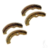 Brake Shoes, SET OF 4, EZGO Gas 97-09.5/Elec 96-09.5, Workhorse 96+, Yamaha G2-G22 94-06