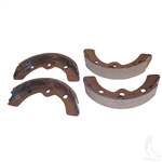Brake Shoes, SET OF 4, EZGO 87-96, 09.5+, Club Car DS 95+, Prec, Yamaha G1/G2/G8/G9 82-93