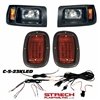 Club Car DS Black Halogen Head & LED Tail Light Kit