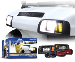 Club Car DS Black Madjax Head & LED Tail Light Kit