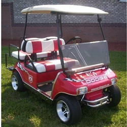 Club Car DS Clear Fold Down Windshield