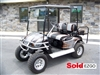 EZGO TXT Electric Silver Black Pinstripe Golf Cart