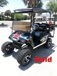 EZGO TXT Gas Blue Marble Textured Custom Paint Golf Cart