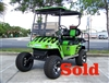 EZGO TXT Gas Green & Black Tribal Flame Golf Cart