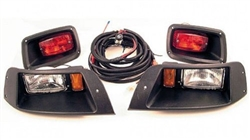 EZGO TXT Black Halogen Head & Tail Light Kit