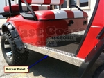 EZGO TXT Rocker Panels in Diamond Plate Aluminum
