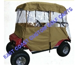 2 Passenger 4 Sided Golf Cart Enclosure