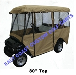 "Enclosure 80"" Extended Top 4-Sided 4 Pass Golf Cart"