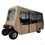 6 Pass. 4-Sided Golf Cart Enclosure Extended Top