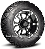 12x6.5 Sixer Machined Finish with 23 All Trail Golf Cart Tire