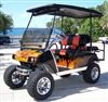 Club Car DS Electric Custom Harley Real Fire Golf Cart
