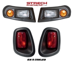 EZGO RXV Black Halogen Head & Tail Light Kit #RX-5-35KLED