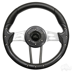 "13"" Aviator 4 Carbon Fiber Steering Wheel"