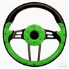 "13"" Aviator 4 Lime Green Steering Wheel"