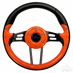 "13"" Aviator 4 Orange Steering Wheel"
