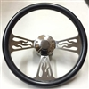14 Flame Carbon Fiber Half Wrap Steering Wheel
