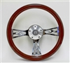 14 Inch Flame Mahogany Wood Steering Wheel