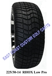 225/30-14 RHOX DOT Low Profile Golf Cart Tire