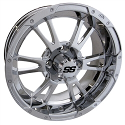14x6 ITP Centered Chrome SS112 Wheel