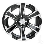 14x6 ITP Centered Black & Machined SS312 Wheel