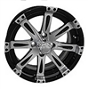 14x6 Centered Vegas Black & Machined Finish Wheel