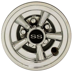 8 Inch SS Chrome Wheel Cover Golf Cart Hub Cap