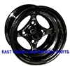 10x7 Black Indy Aluminum Golf Cart Wheel