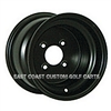 10x7 Black Steel Golf Cart Wheel