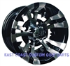 10x7 Vampire Machined & Black Golf Cart Wheel