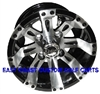 10x7 Vegas Machined & Black Golf Cart Wheel