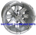 10x7 Silver Vegas Golf Cart Wheel