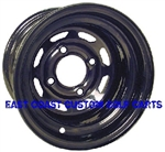 10x7 Black Wagon Steel Golf Cart Wheel