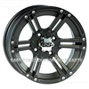 12x7 ITP SS 212 Black Golf Cart Wheel