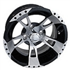 12x7 RHOX RX210 Machined Black Golf Cart Wheel