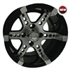 12x7 RHOX RX250 Machined Black Golf Cart Wheel
