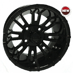12x7 RHOX RX271 Black Golf Cart Wheel