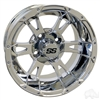 12x7 RHOX RX322 Chrome Golf Cart Wheel