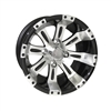12x6 Vegas Centered Machined Black Golf Cart Wheel