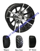 12x7 RX101 12 Spoke Wheel with Your Choice of Lifted Tire